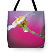 Flower In Purple Tote Bag