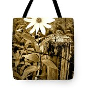 Flower In Sepia Tote Bag