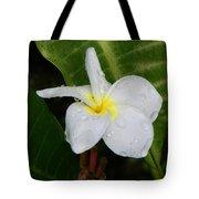 Flower In The Rain Tote Bag