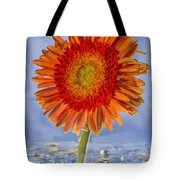 Flower In Water Tote Bag