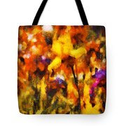 Flower - Iris - Orchestra Tote Bag by Mike Savad