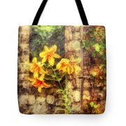 Flower - Lily - Yellow Lily  Tote Bag by Mike Savad