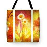 Flower Love Triptic Tote Bag