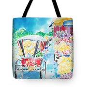 Flower Market  In Chiang Mai Tote Bag