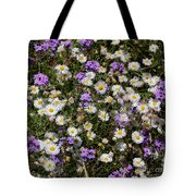 Flower Mix - Purple And White Tote Bag