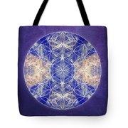 Flower Of Life Blue Tote Bag