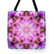 Flower Of Life Lily Mandala Tote Bag