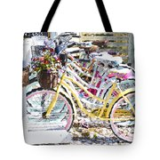 Flower On A Bicycle 2 Tote Bag