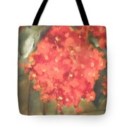 Flower On The Wall Tote Bag