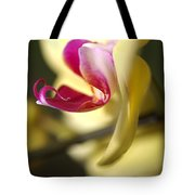 Flower-orchid-yellow Tote Bag