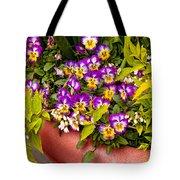 Flower - Pansy - Purple Posies  Tote Bag by Mike Savad