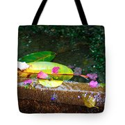 Flower Petals And Leaves Tote Bag