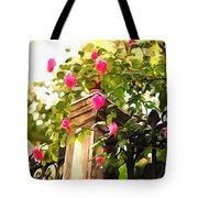 Flower Post Tote Bag