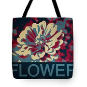 Flower Poster Tote Bag