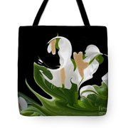 Flower Power Abstract Tote Bag