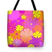 Flower Power Pastels Design Tote Bag