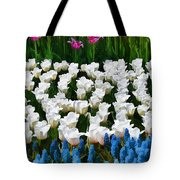 Flower Splash X Tote Bag