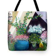 Flower Stand On Worth Ave In Palm Beach Tote Bag