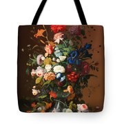 Flower Still Life With A Bird's Nest Tote Bag