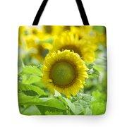 Flower - Texas Sunflower Field 1 - Luther Fine Art Tote Bag
