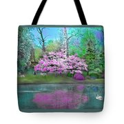 Flower Tree Reflections Tote Bag