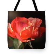 Flower-tri Toned-rose Tote Bag