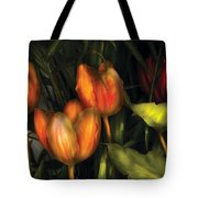 Flower - Tulip -  Orange Irene And Red  Tote Bag