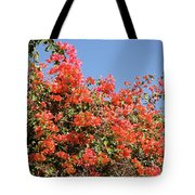 flower wall in Madagascar Tote Bag