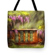 Flower - Wisteria - A Lovers View Tote Bag by Mike Savad