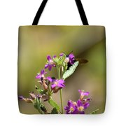 Flower With Bee Tote Bag