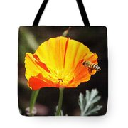 Flower With Honey Bee Tote Bag