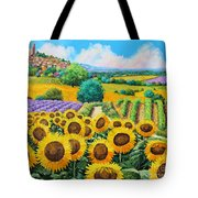Flowered Garden Tote Bag by Jean-Marc Janiaczyk