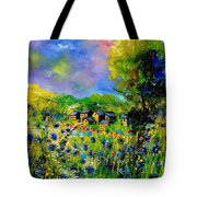 Flowered Village Tote Bag