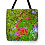 Flowering Blossoms Tree Paint Style Tote Bag