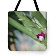 Flowering  Orchid Stem Tote Bag