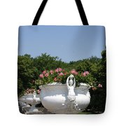 Flowerpots In A Row - Chateau Chenonceau Tote Bag