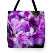 Flowers 2078 Embossed Tote Bag