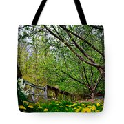 Flowers And Fence Tote Bag
