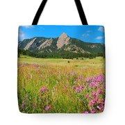 The Flatirons Colorado Tote Bag