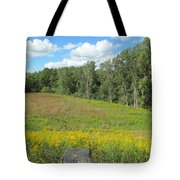Flowers And Grass Tote Bag