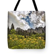 Flowers And Mountains And Sky...oh My Tote Bag