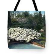 Flowers And Pool Tote Bag
