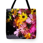 Flowers And Shadow Tote Bag