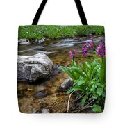 Flowers And Stream Tote Bag
