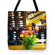Flowers And Wine Tote Bag