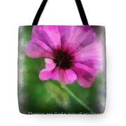Flowers Are Gods Way 01 Tote Bag