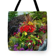 Flowers At Entrance Tote Bag