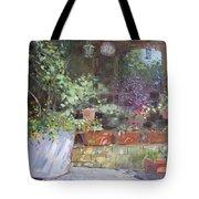 Flowers At Lida's Veranda Tote Bag