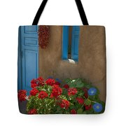 Flowers At Ranchos De Taos Tote Bag