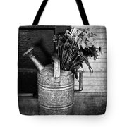 Flowers At The Door  Tote Bag by Empty Wall